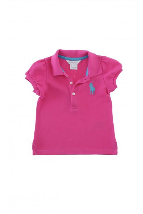 Bluzeczka różowa bawełniana, Ralph Lauren