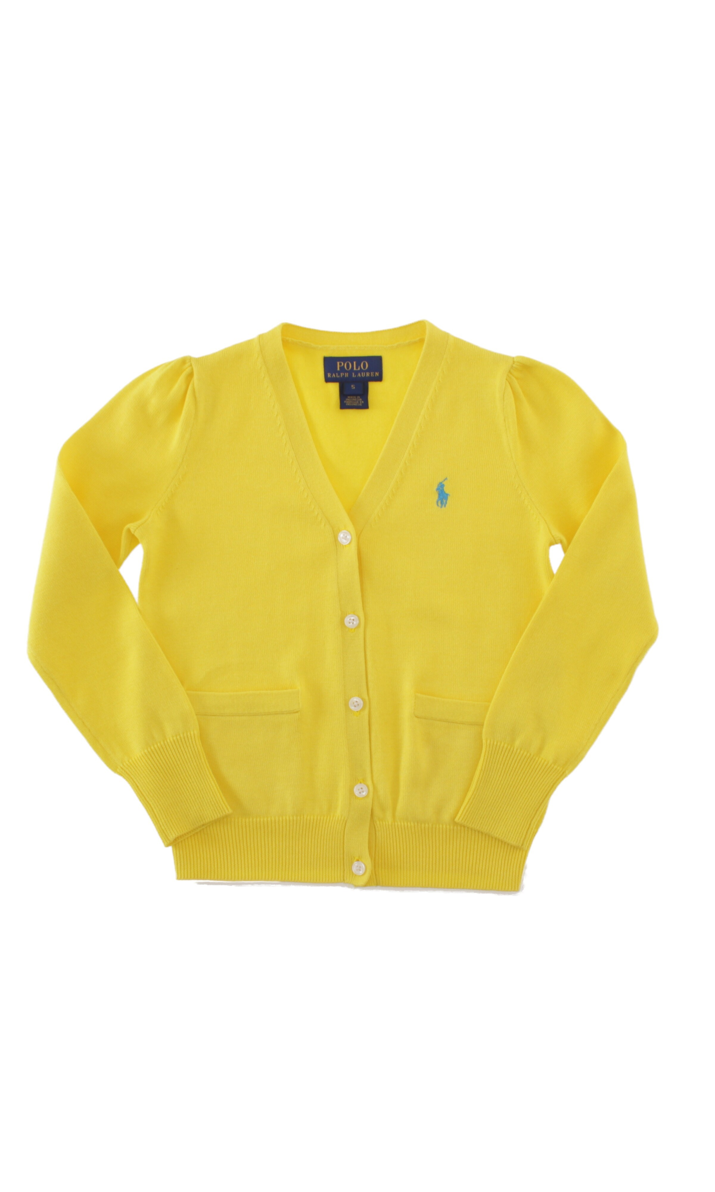 Yellow girl's cardigan, Polo Ralph Lauren - Celebrity-Club