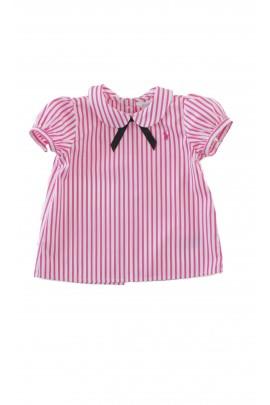 Bluzka w biało - różowe paski, Ralph Lauren