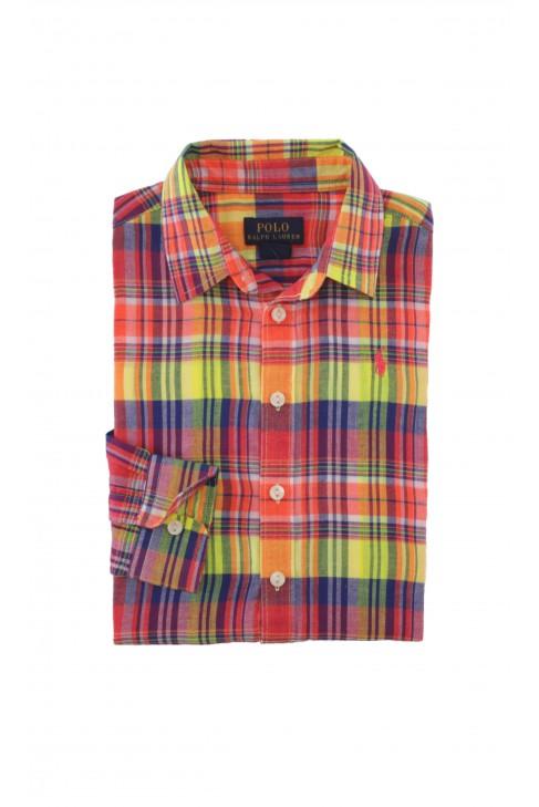 Shirt in yellow-and-orange checker, Polo Ralph Lauren