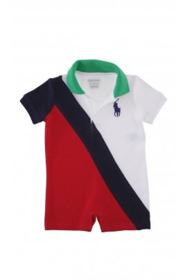 Rampers chłopięcy biało - czerwony, Ralph Lauren