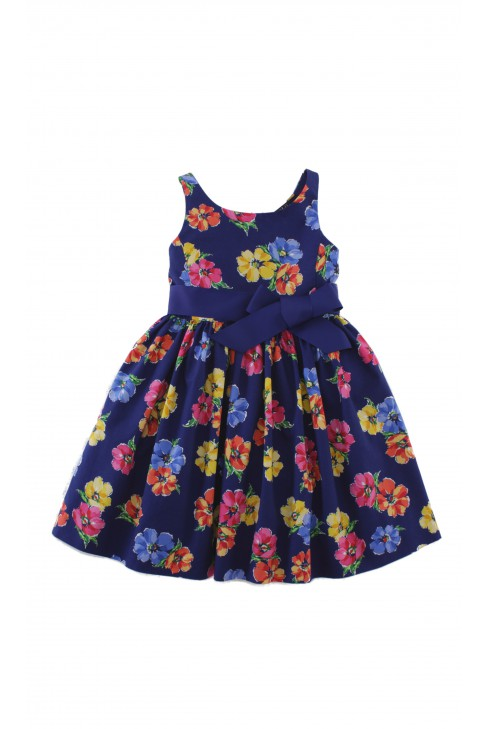Sapphire dress in yellow-and-pink flowers, Polo Ralph Lauren