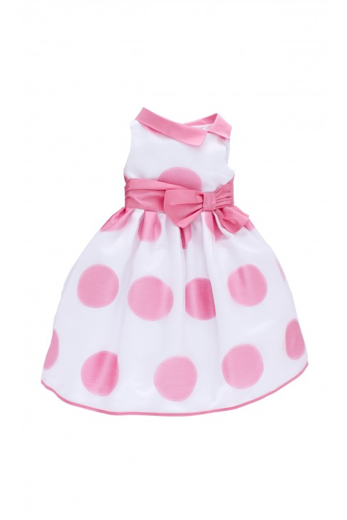 White dress in big polka dot, Colorichiari