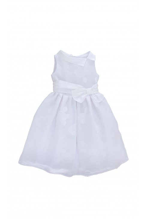 Biała sukienka w duże białe kwiaty, Coloricchiari