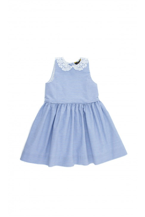 Dress in white-and-blue stripes, Polo Ralph Lauren