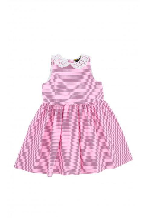 Dress in pink-and-white stripes, Polo Ralph Lauren