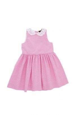 Sukienka w różowo-białe paski, Polo Ralph Lauren