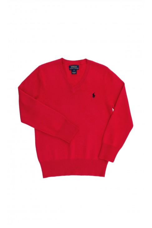 Czerwony sweter chłopięcy, Polo Ralph Lauren