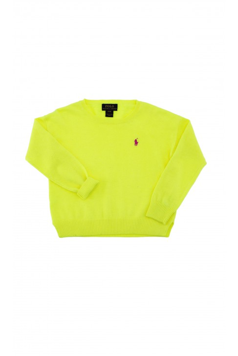 Sweter cytrynowy dziewczęcy, Polo Ralph Lauren