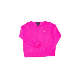 Pink (garish) girl's sweater, Polo Ralph Lauren